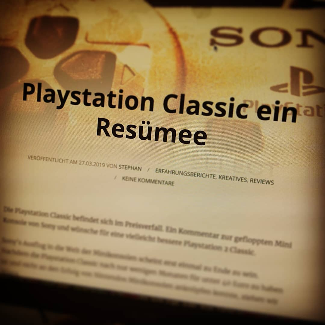 Unser #Resümee zu Sonys gestrandeter #Minikonsole ist jetzt auf gaminghelden.de online. ?? #ausblick  #playstation2classic #ftw #playstation #playstationclassic #retro #backlogmann #artikel #gaminghelden