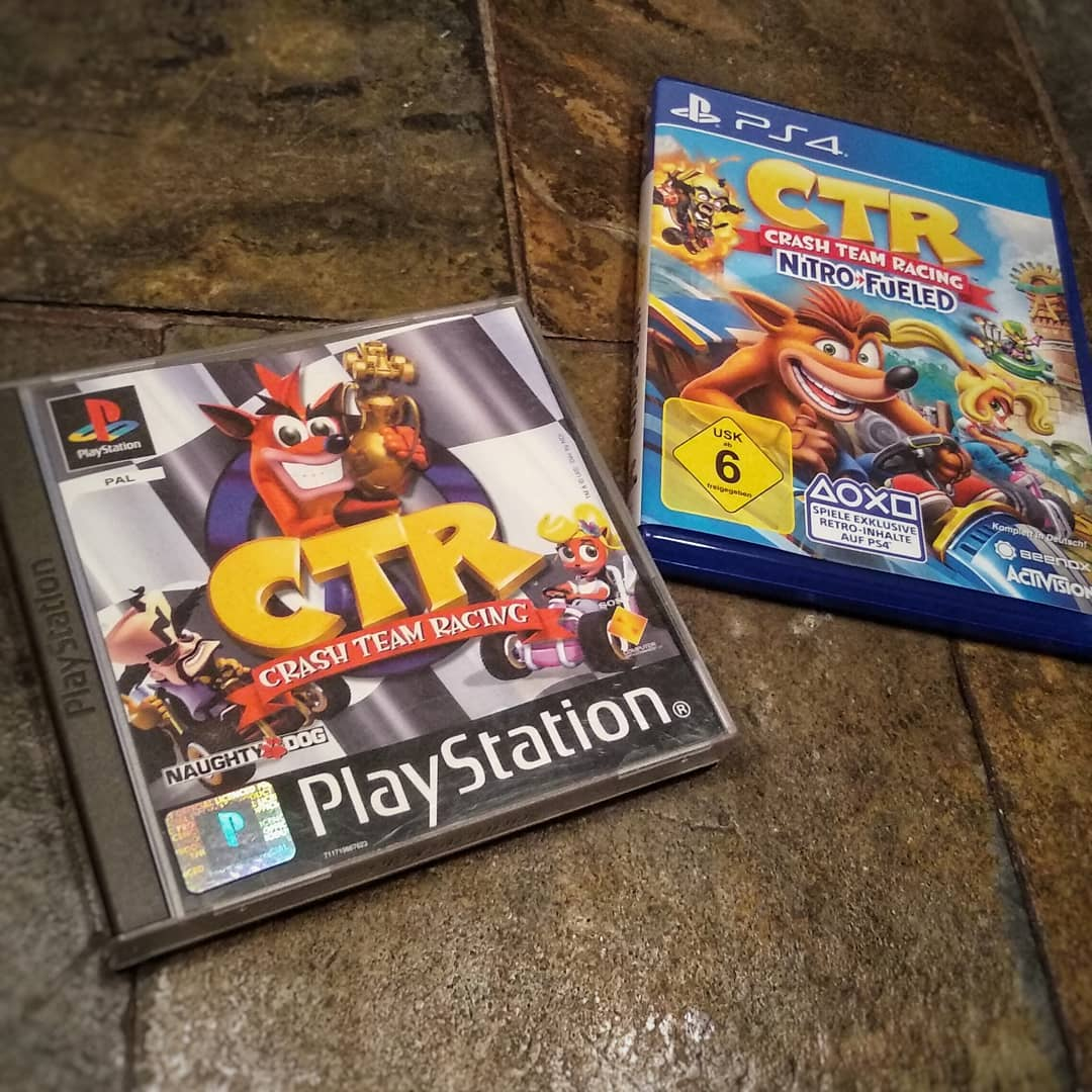 Old meets new - #crashteamracing vs #ctr #nitrofueled. Choose your favorit. ?? #playstation #playstation4 #psx #crashbandicoot #oldmeetsnew
