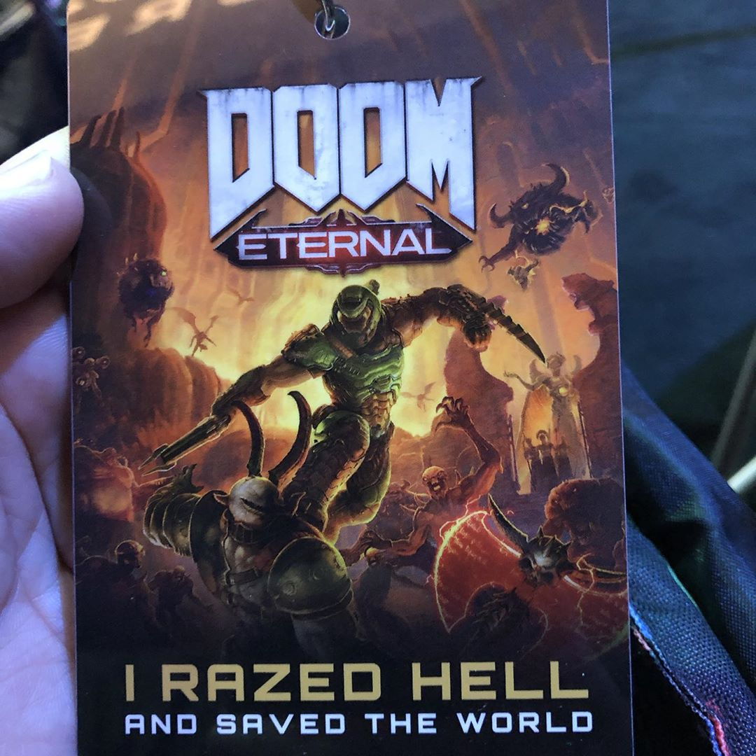 Very cool thing by @bethesda_de. If you play the Doom Eternal Demo you will help plant a forest! So, what are you waiting for? #bgc2019 #gamescom2019 #doometernal #bethesdagamestudios