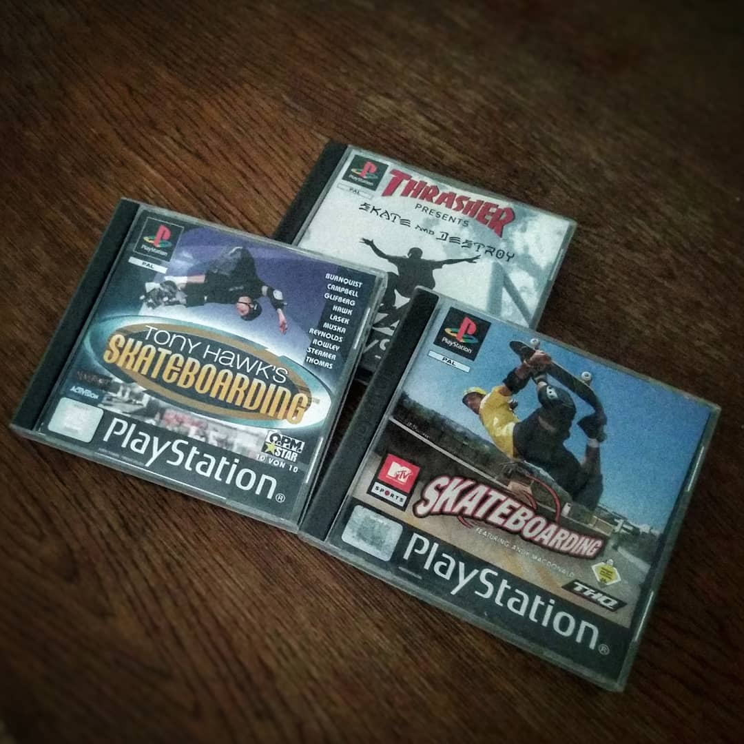 What's your favorite #playstation1 #skateboard game? Tony Hawk, Trasher or MTV Skateboarding? Are you also looking forward to the #remaster of #tonyhawkproskater? ?? @trashermag @mtv @tonyhawk @activision #psx #playstation #playstationclassic #remake