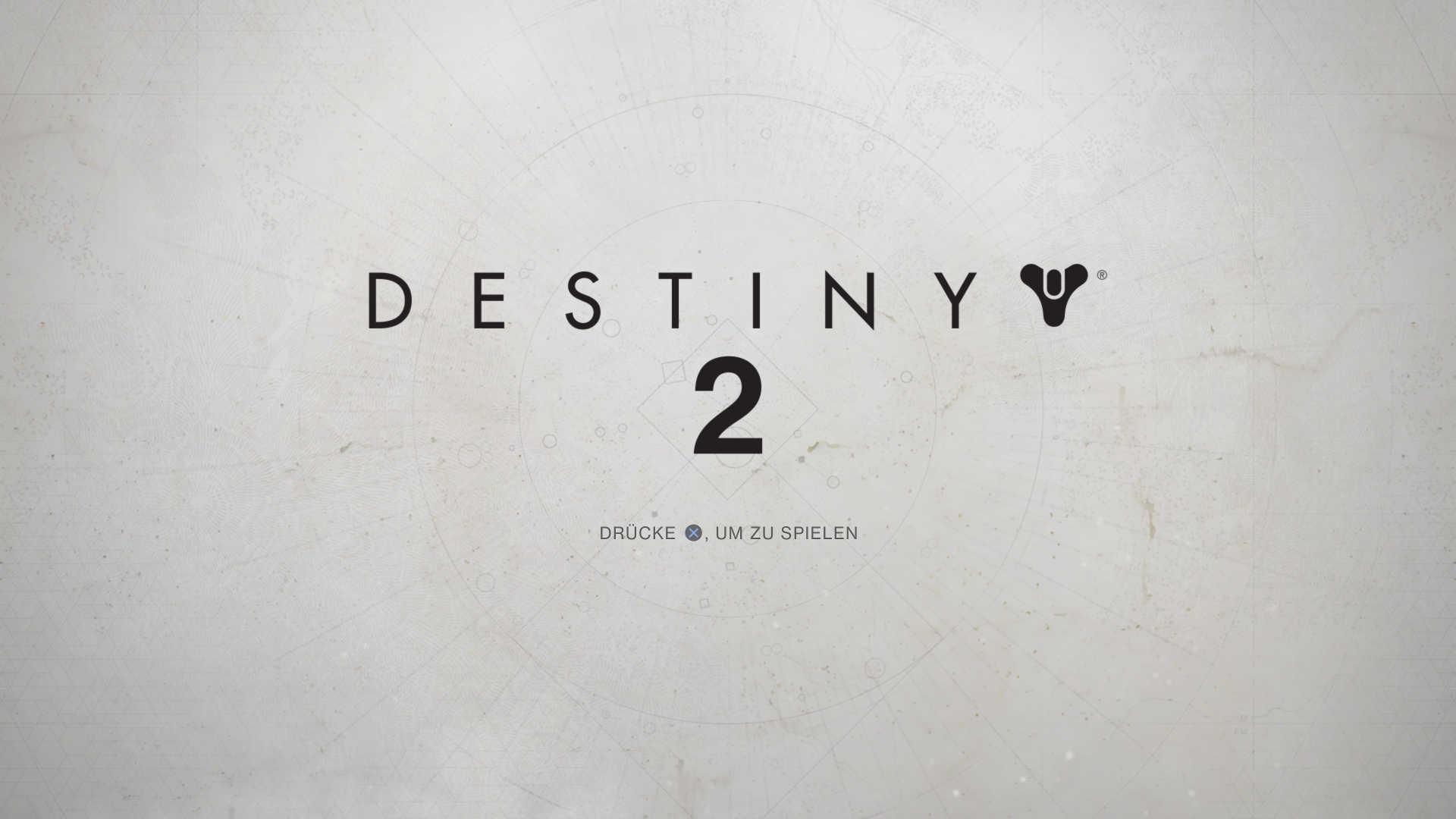 Destiny 2 Startscreen