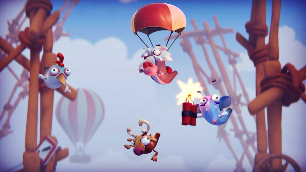 Para-Chu-chu ist eines der Mini-Spiele aus Frantics