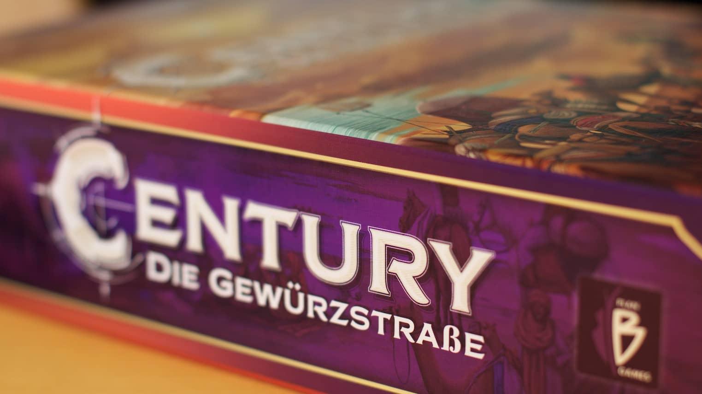 Blick auf die Verpackungsseite des Spiels Century - Die Gewürzstraße