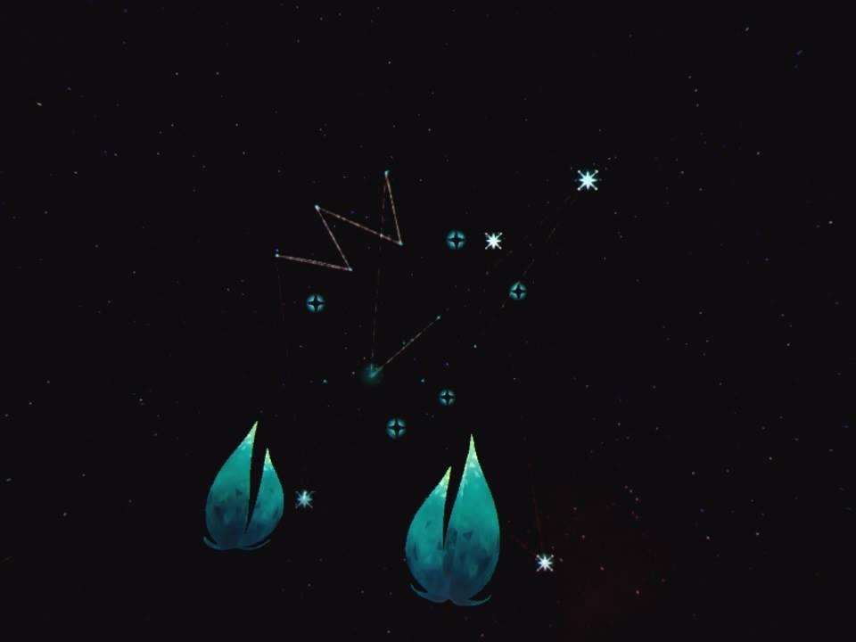 Um die Form herzustellen muss man die Sterne an die richtige Stelle im Gerüst ziehen