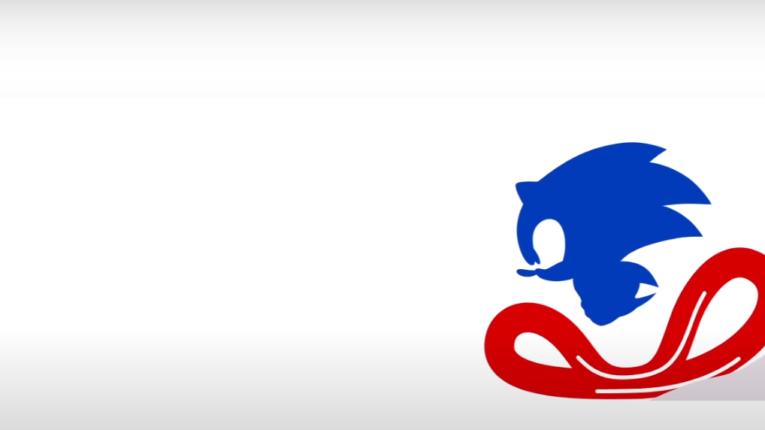 Eine stilisierte Darstellung von Sonic